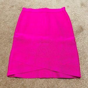 Bebe bandage skirt in hot pink